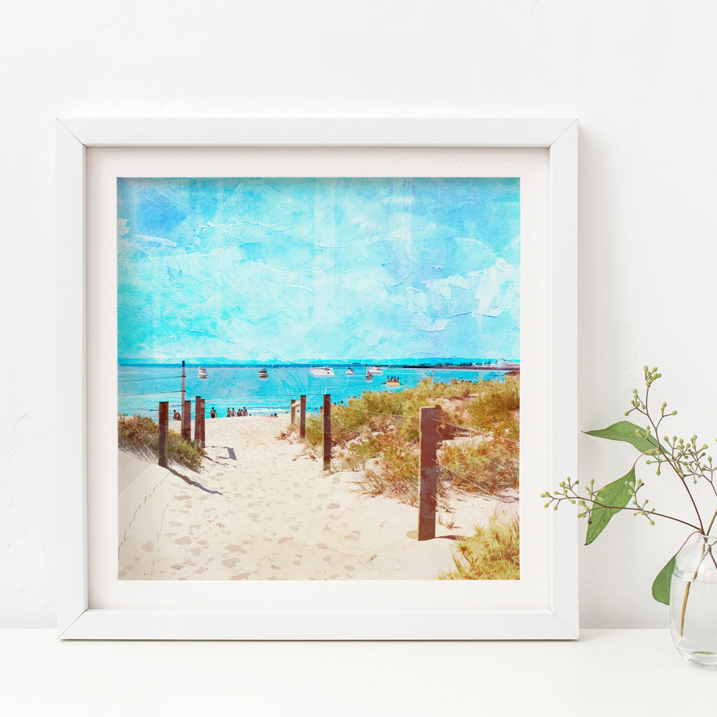 Summer Days at South Beach Art Print - Braw Paper Co