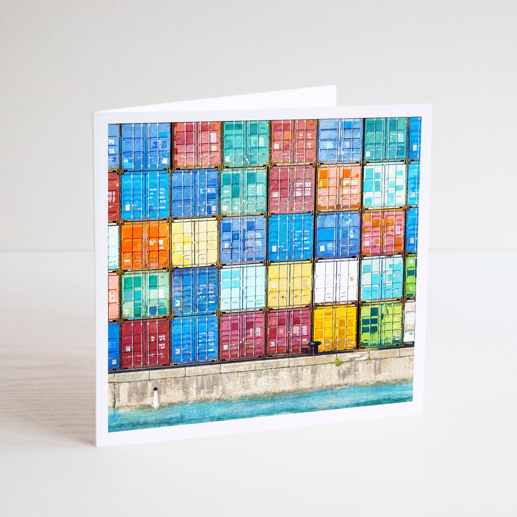 Fremantle Shipping Containers Notecard - Braw Paper Co