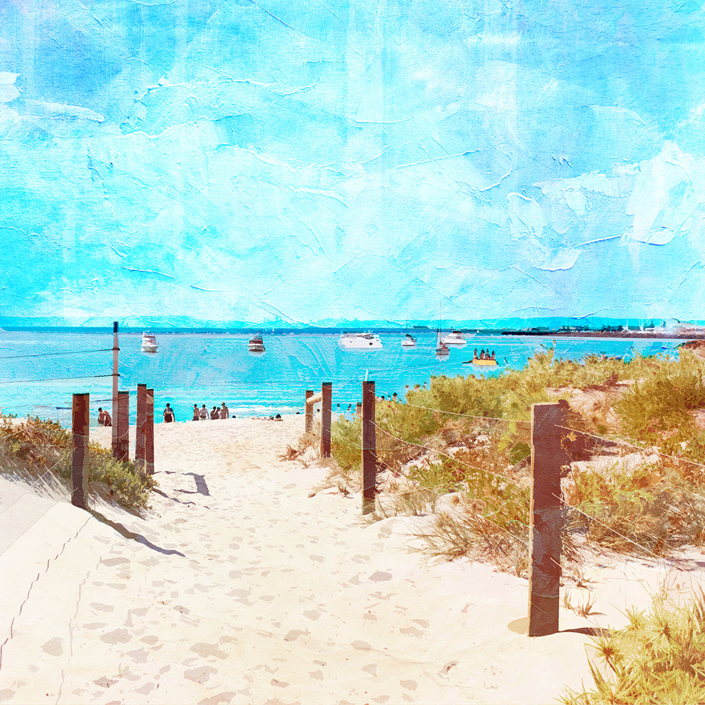Summer Days at South Beach Notecard - Braw Paper Co