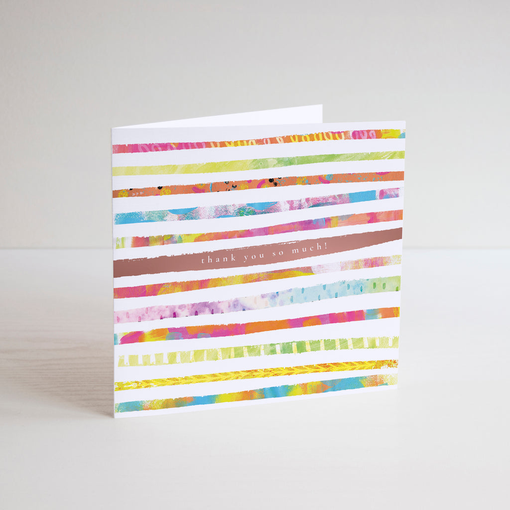 Thank You So Much Greetings Card - Braw Paper Co
