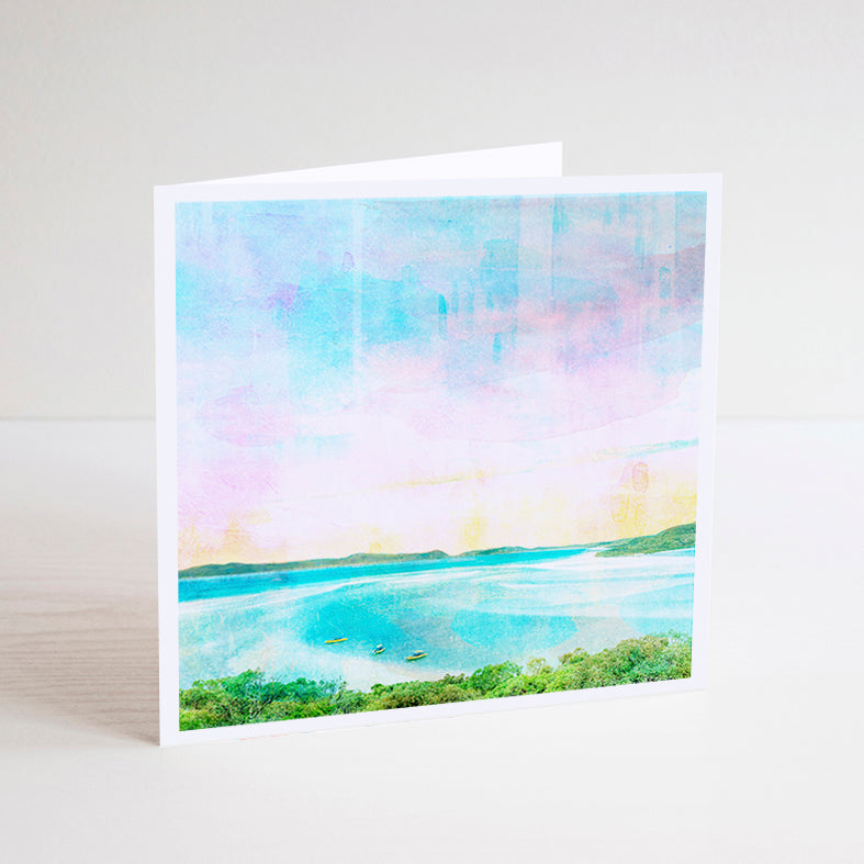 Whitehaven Beach Notecard - Braw Paper Co