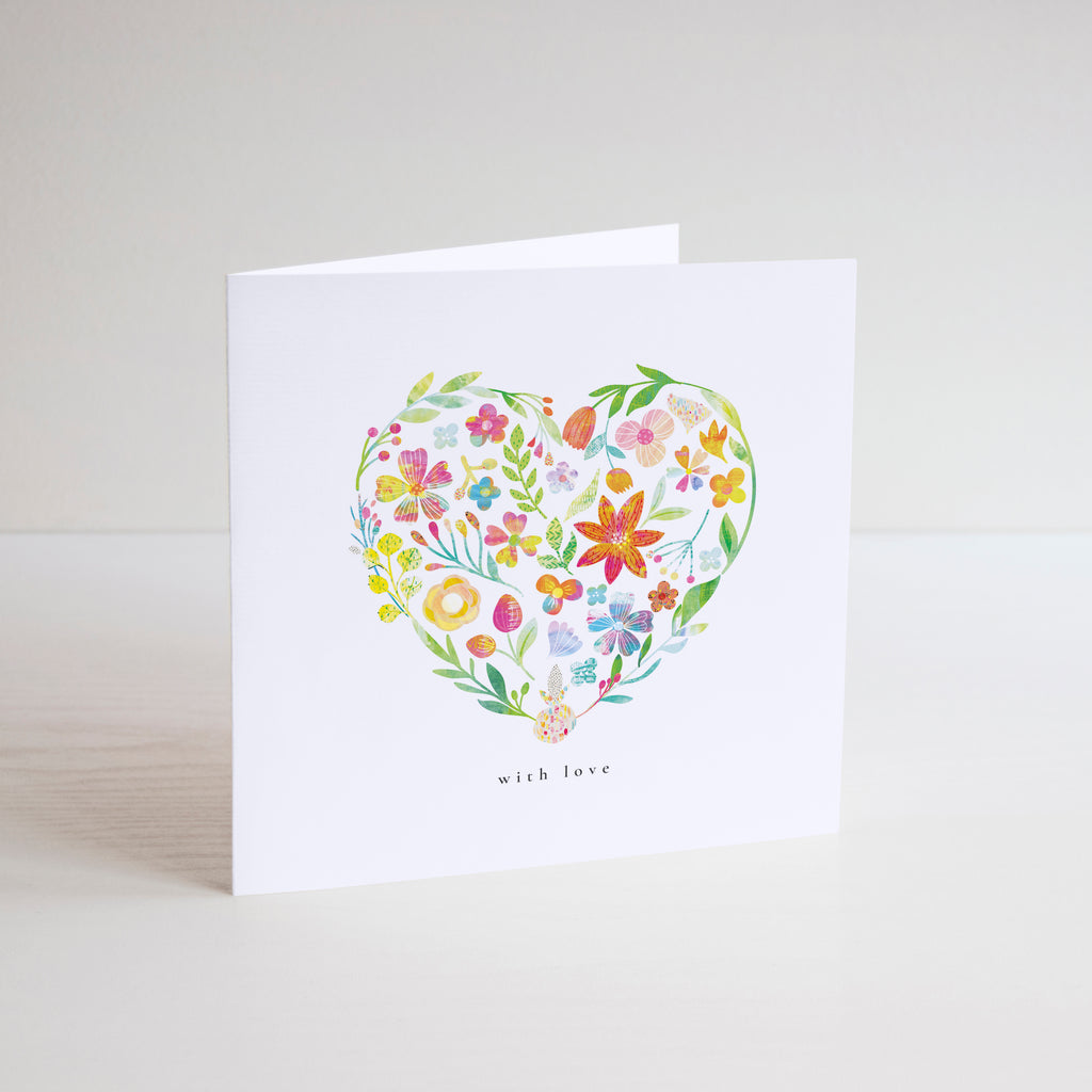 With Love Greetings Card - Braw Paper Co