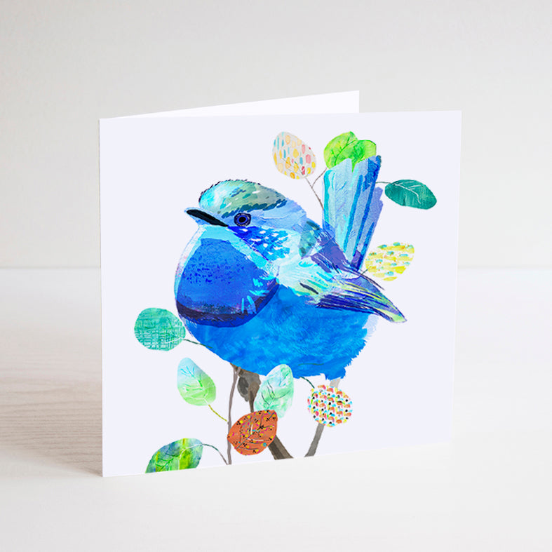 Splendid Fairy-Wren Mini Card - Braw Paper Co