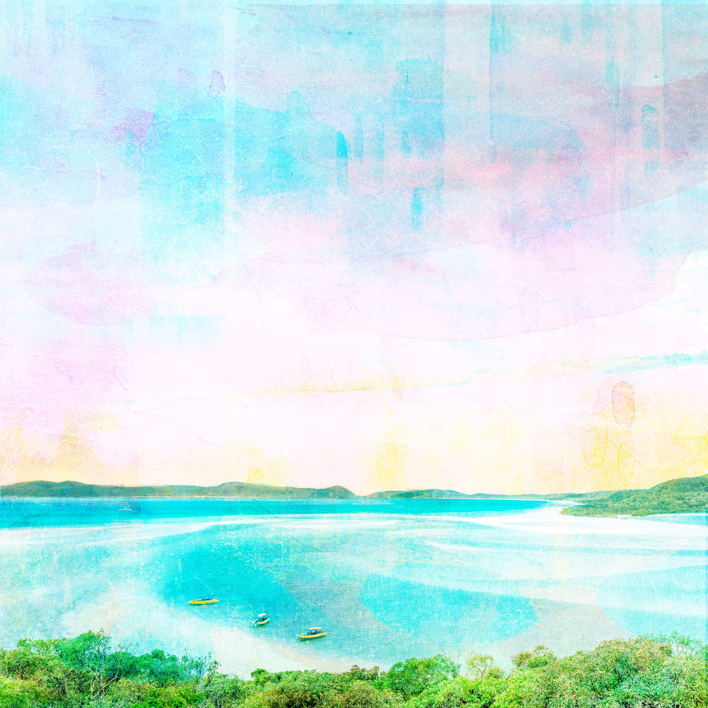Whitehaven Beach Art Print - Braw Paper Co