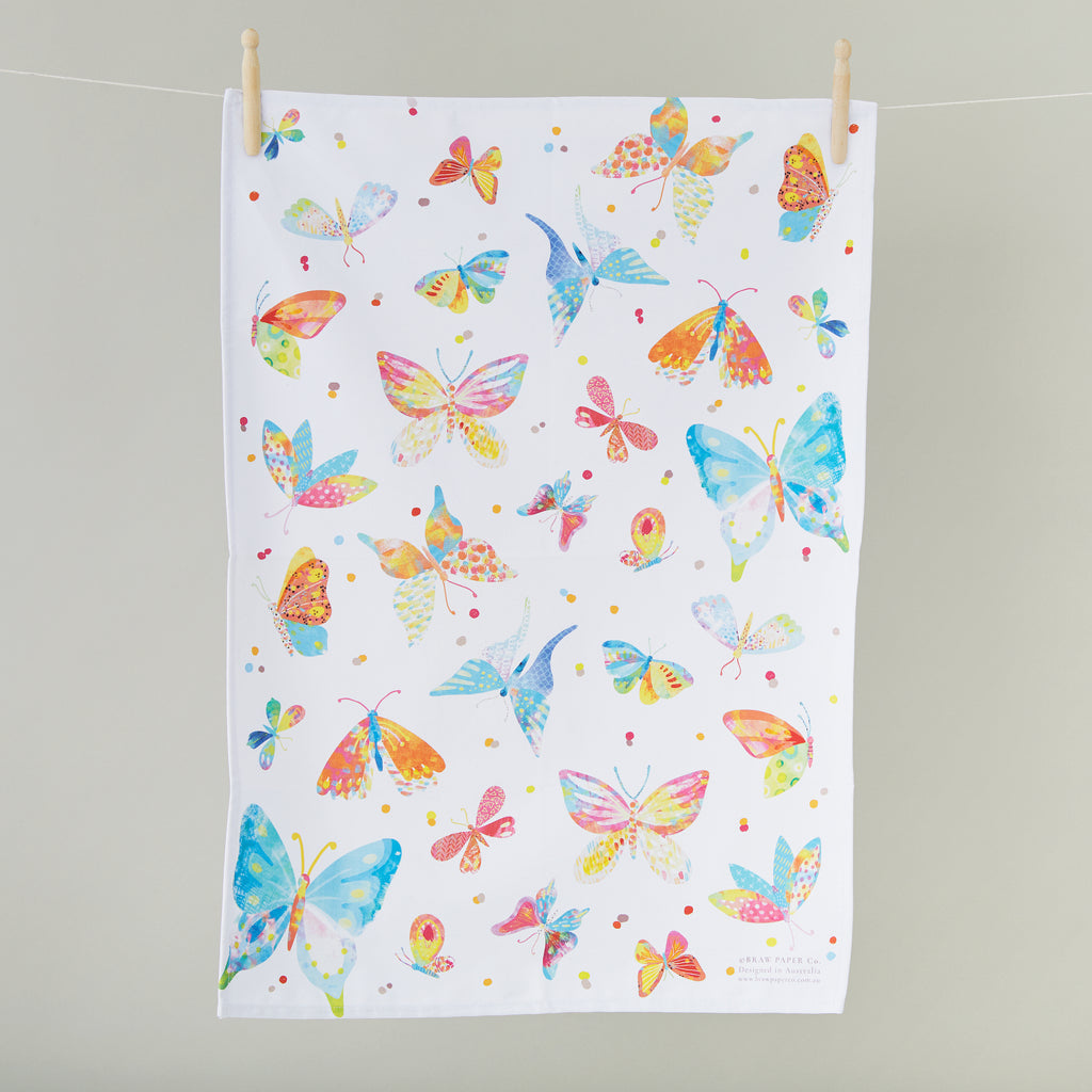 Bountiful Butterflies Tea Towel - Braw Paper Co