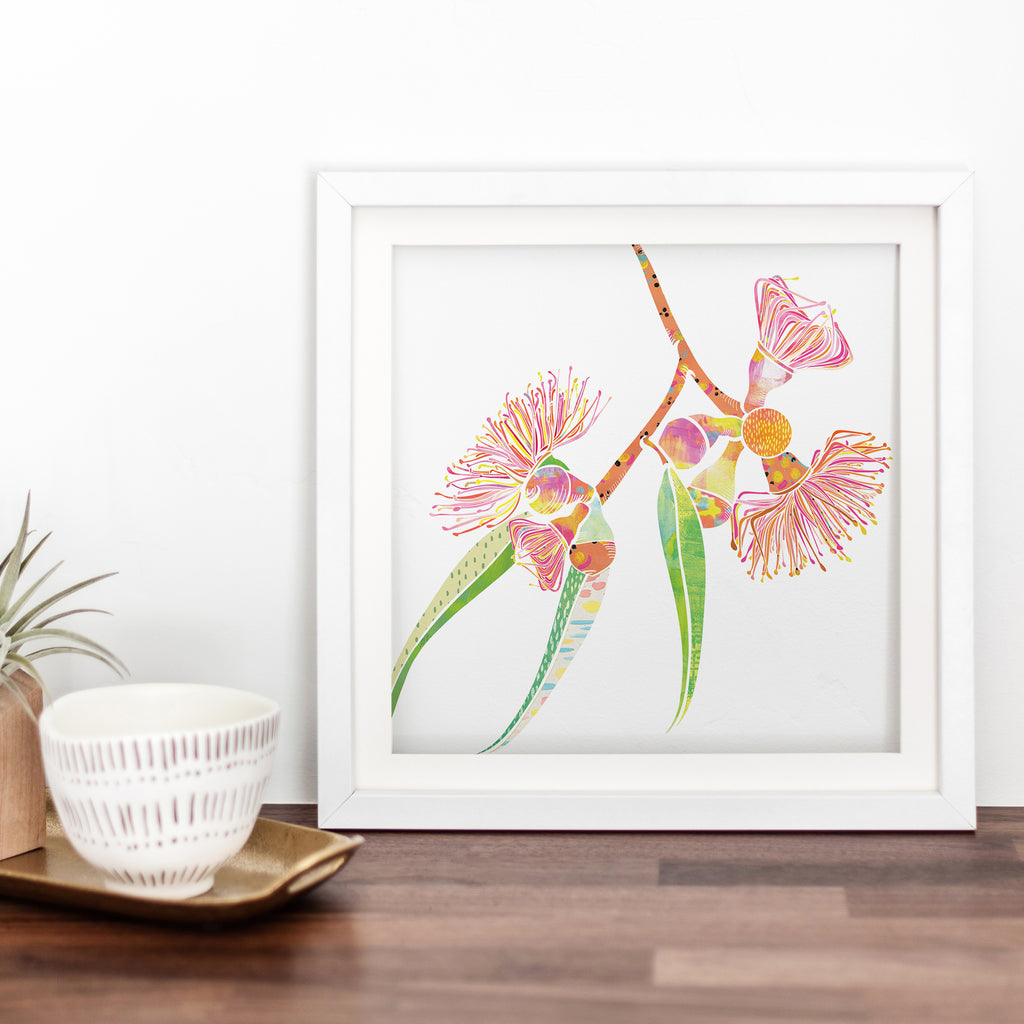 Gum Blossoms Art Print - Braw Paper Co