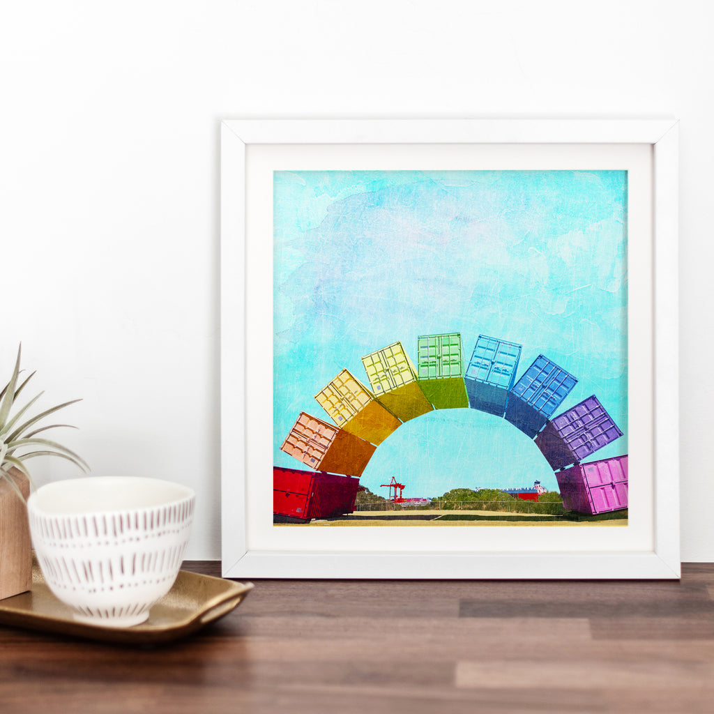 Fremantle Rainbow Containers Art Print - Braw Paper Co