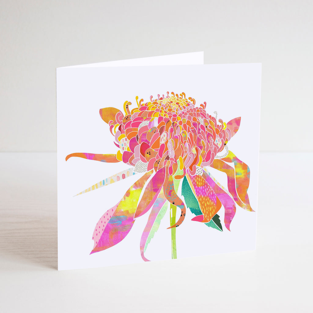 Waratah Mini Card - Braw Paper Co