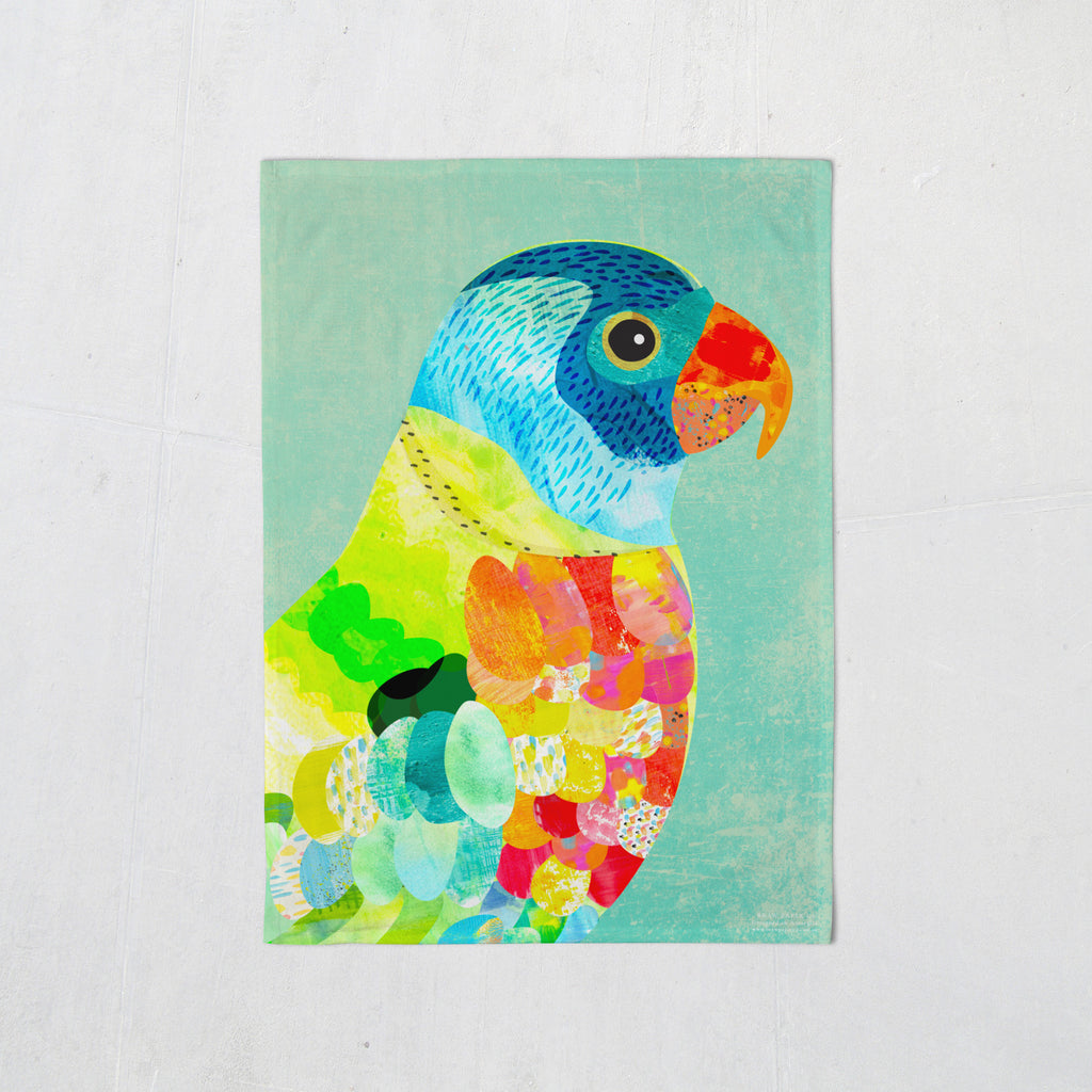 Rainbow Lorikeet Tea Towel - Braw Paper Co