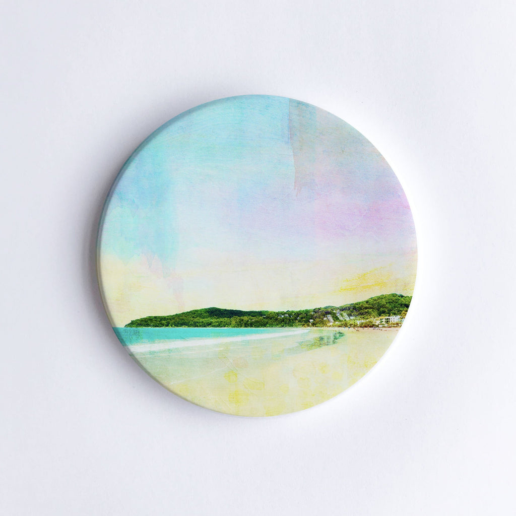 Noosa Main Beach Ceramic Coaster - Braw Paper Co