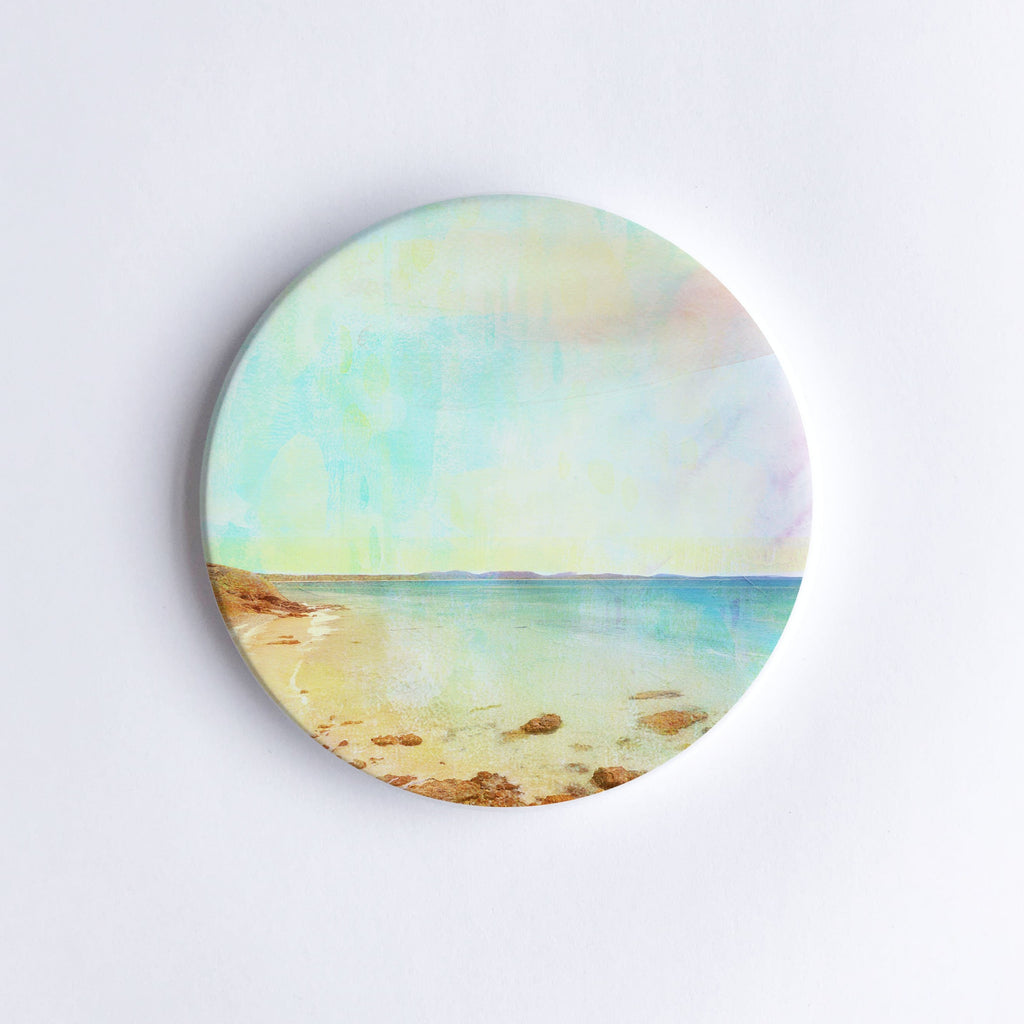 Little Wategos Beach Ceramic Coaster - Braw Paper Co