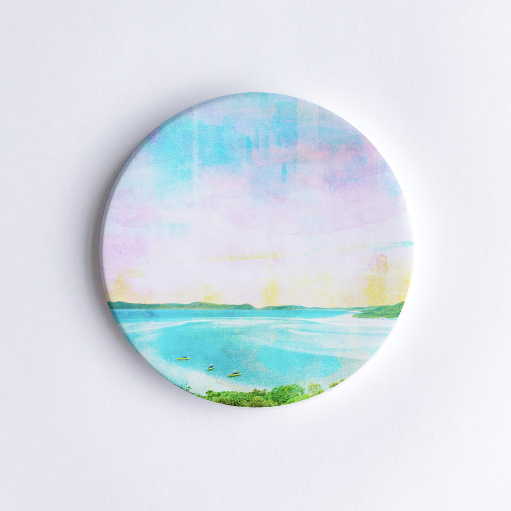Whitehaven Beach Ceramic Coaster - Braw Paper Co