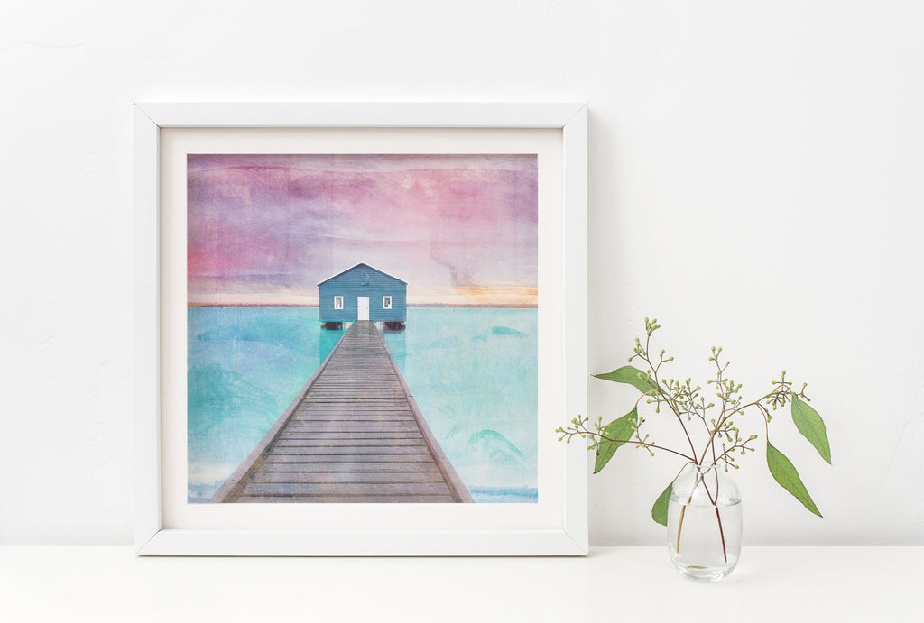 Crawley Boat House Art Print - Braw Paper Co
