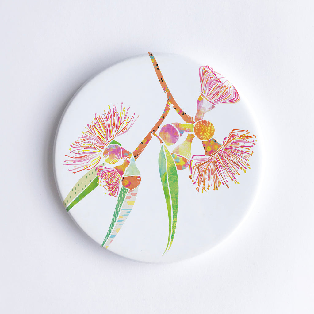 Gum Blossom Ceramic Coaster - Braw Paper Co