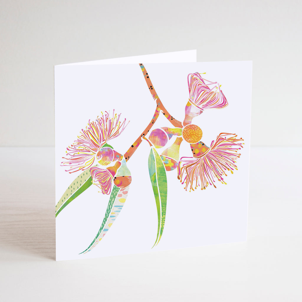 Gum Blossoms Mini Card - Braw Paper Co