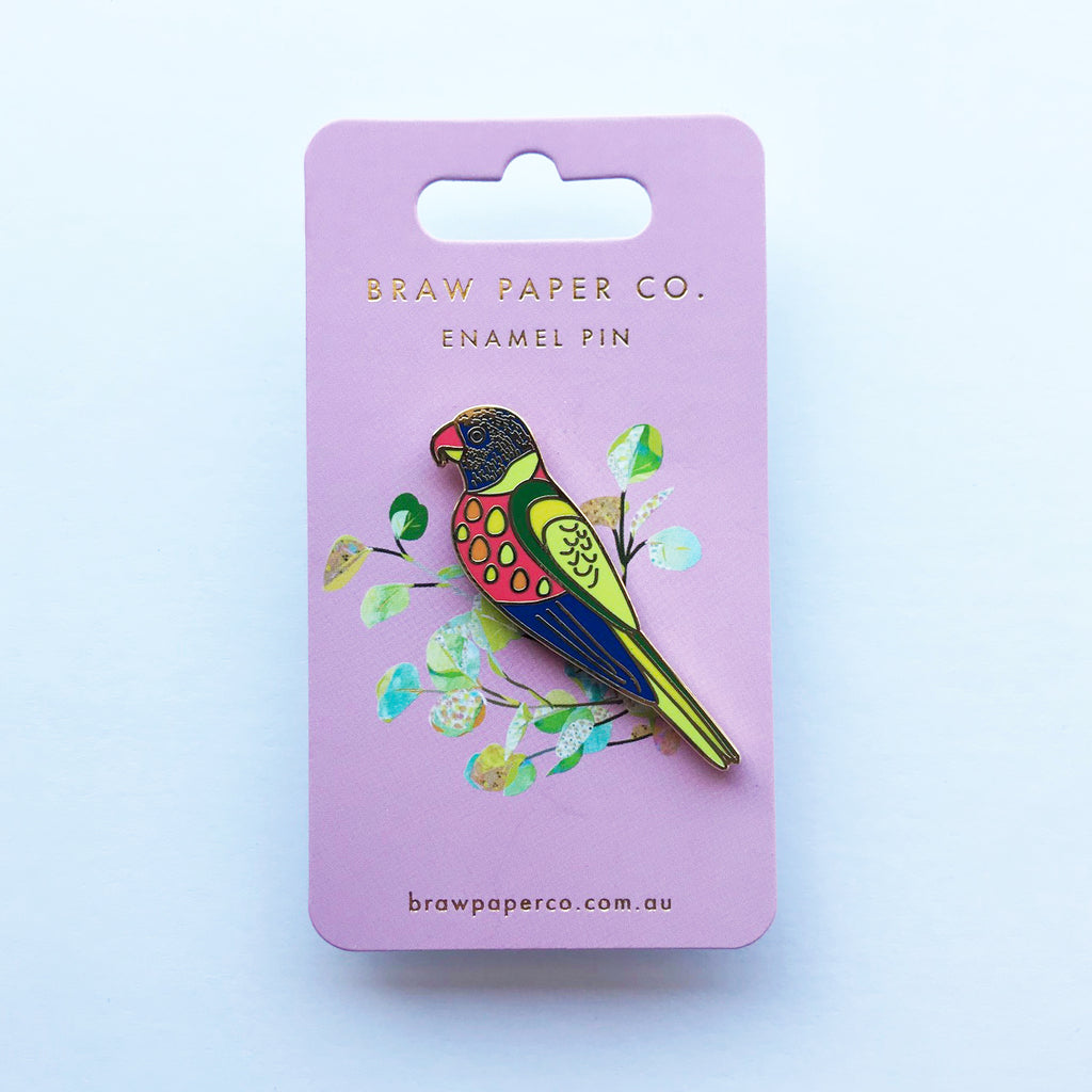 Rainbow Lorikeet Enamel Pin - Braw Paper Co
