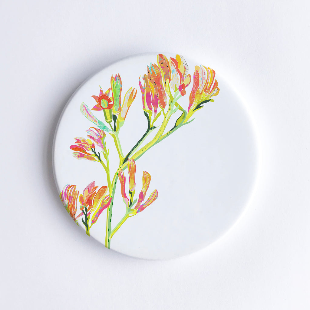 Kangaroo Paw Ceramic Coaster - Braw Paper Co
