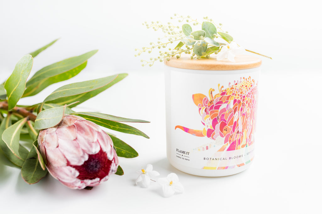 Botanical Blooms Soy Candle 200ml - Braw Paper Co