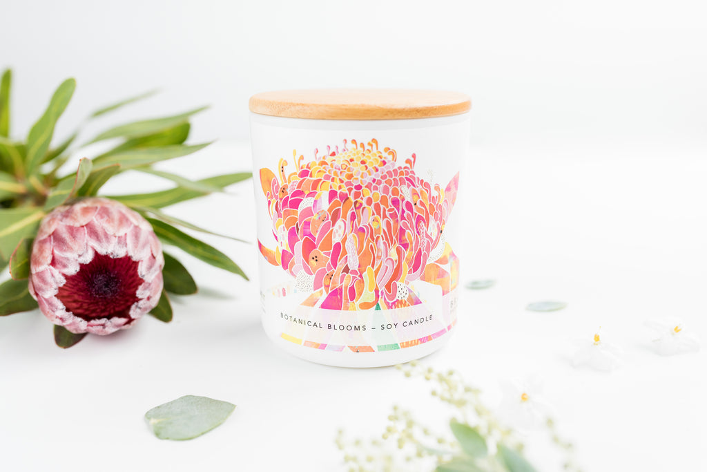 Botanical Blooms Soy Candle 400ml - Braw Paper Co