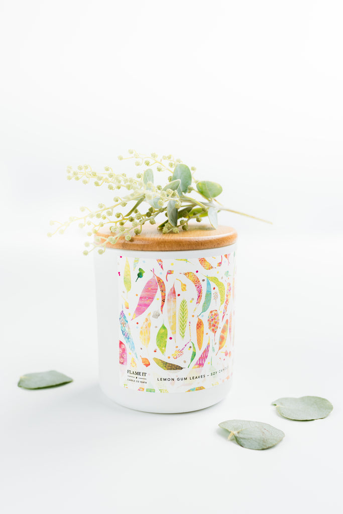 Lemon Gum Leaves Soy Candle 200ml - Braw Paper Co