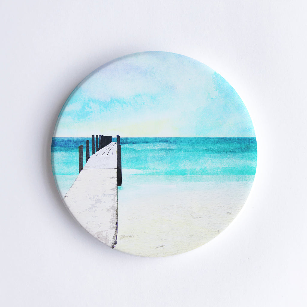 Quindalup Beach Ceramic Coaster - Braw Paper Co