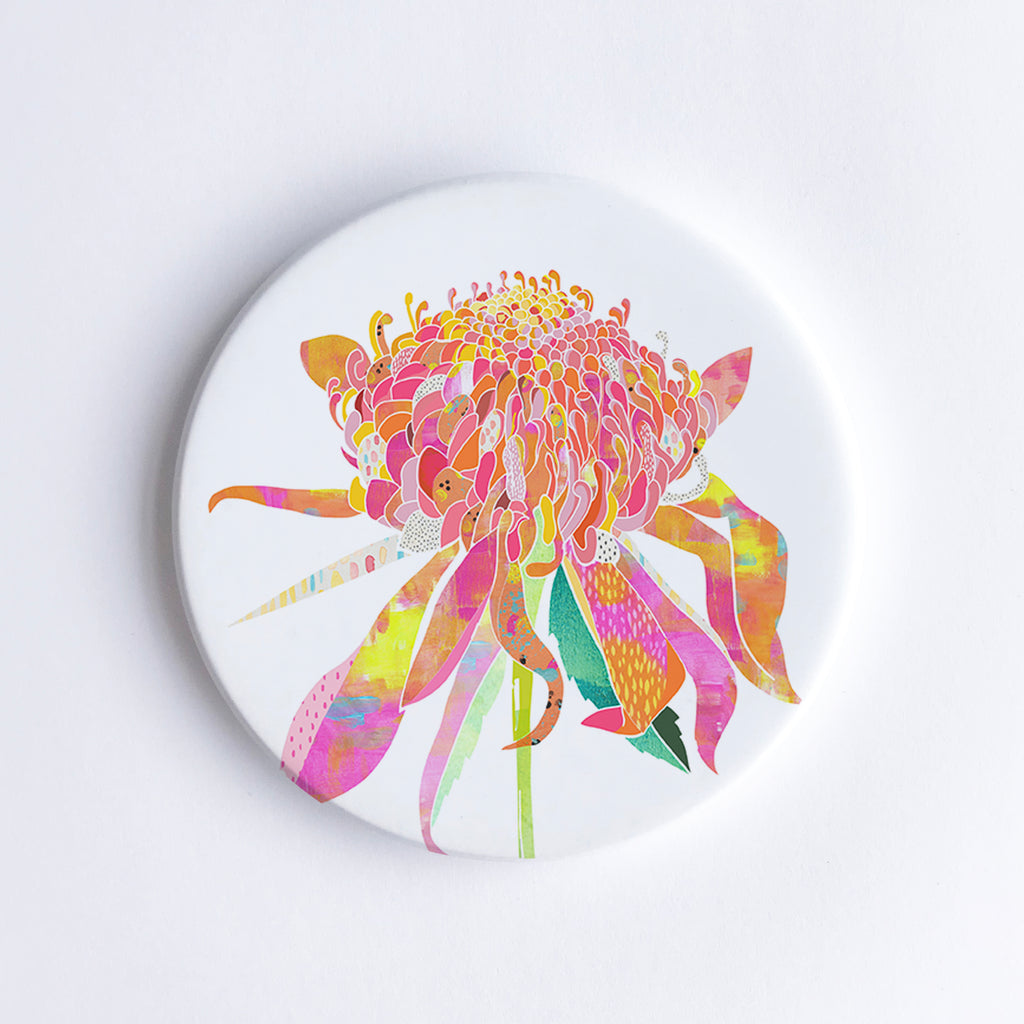 Waratah Ceramic Coaster - Braw Paper Co