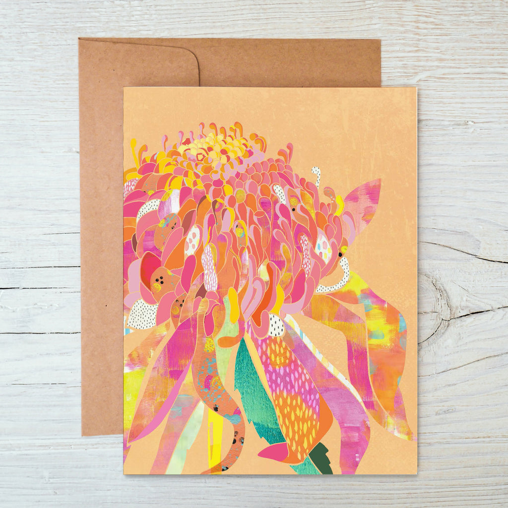 Waratah A6 Notecard - Braw Paper Co