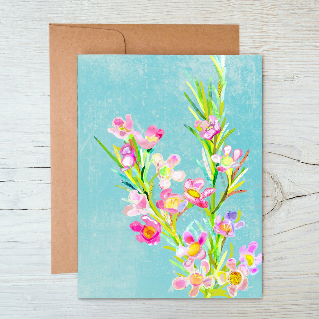 Wax Flower A6 Notecard - Braw Paper Co