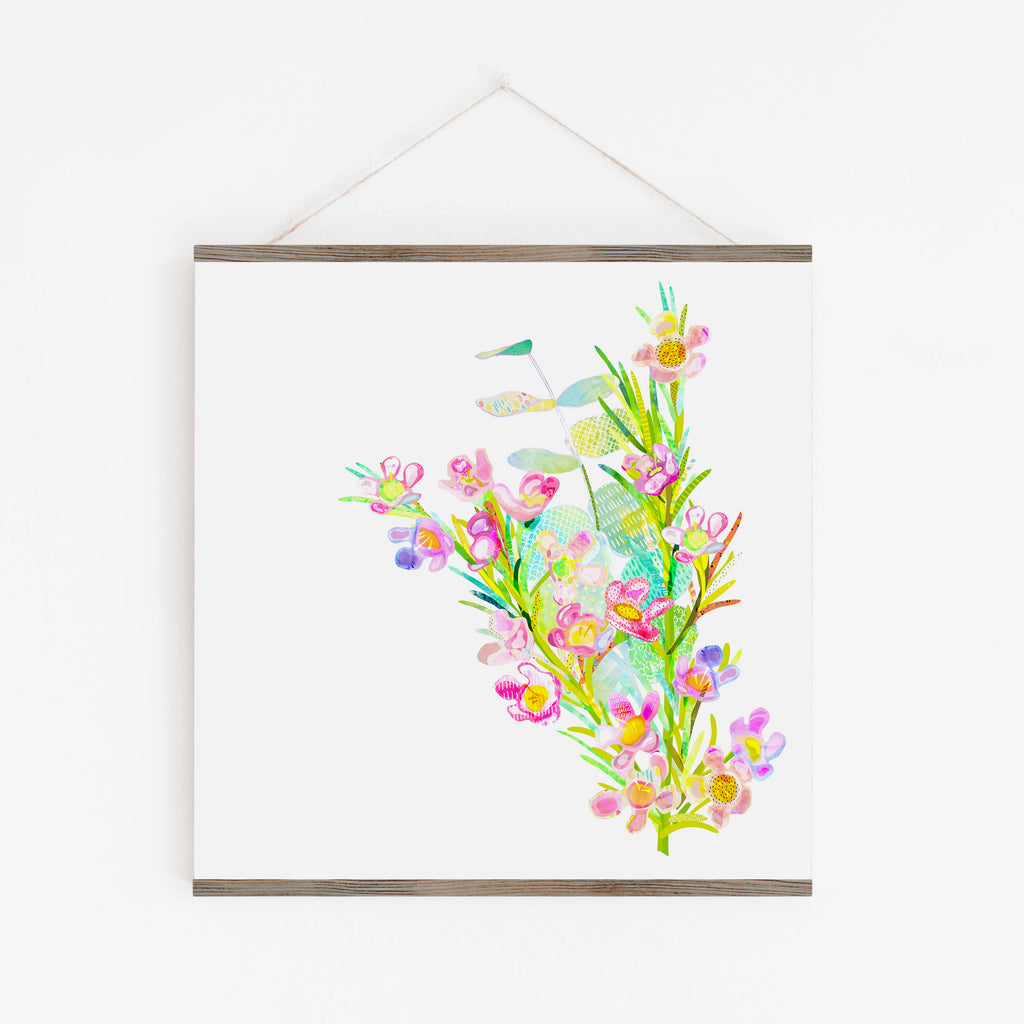 Geraldton Wax Flower Art Print - Braw Paper Co