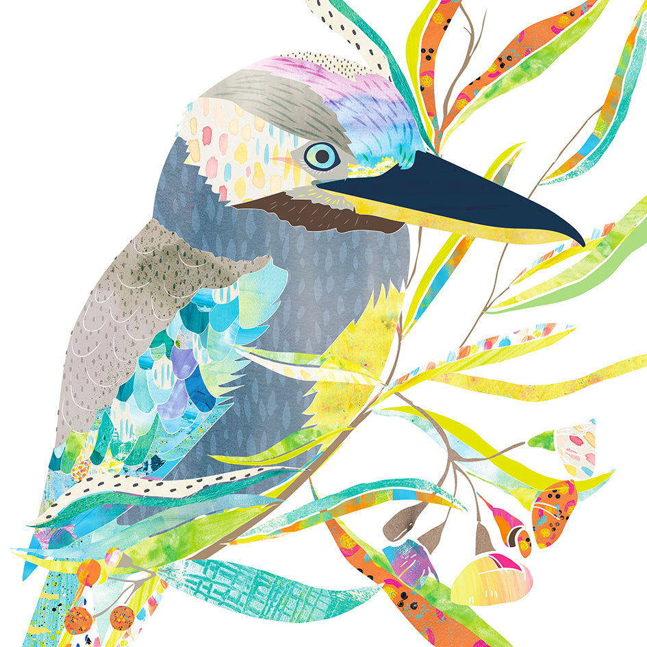 Blue-Winged Kookaburra Art Print - Braw Paper Co