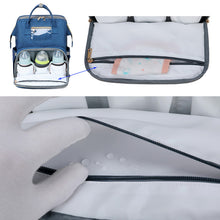 Load image into Gallery viewer, Expandable baby bed / changing crib bag with sun shade
