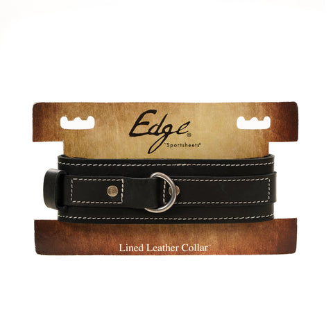 Edge BDSM Lined Leather Bondage Collar