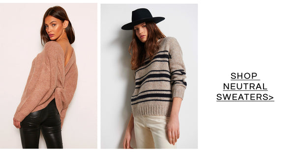 Shop Neutral Sweaters at French Cuff Boutique
