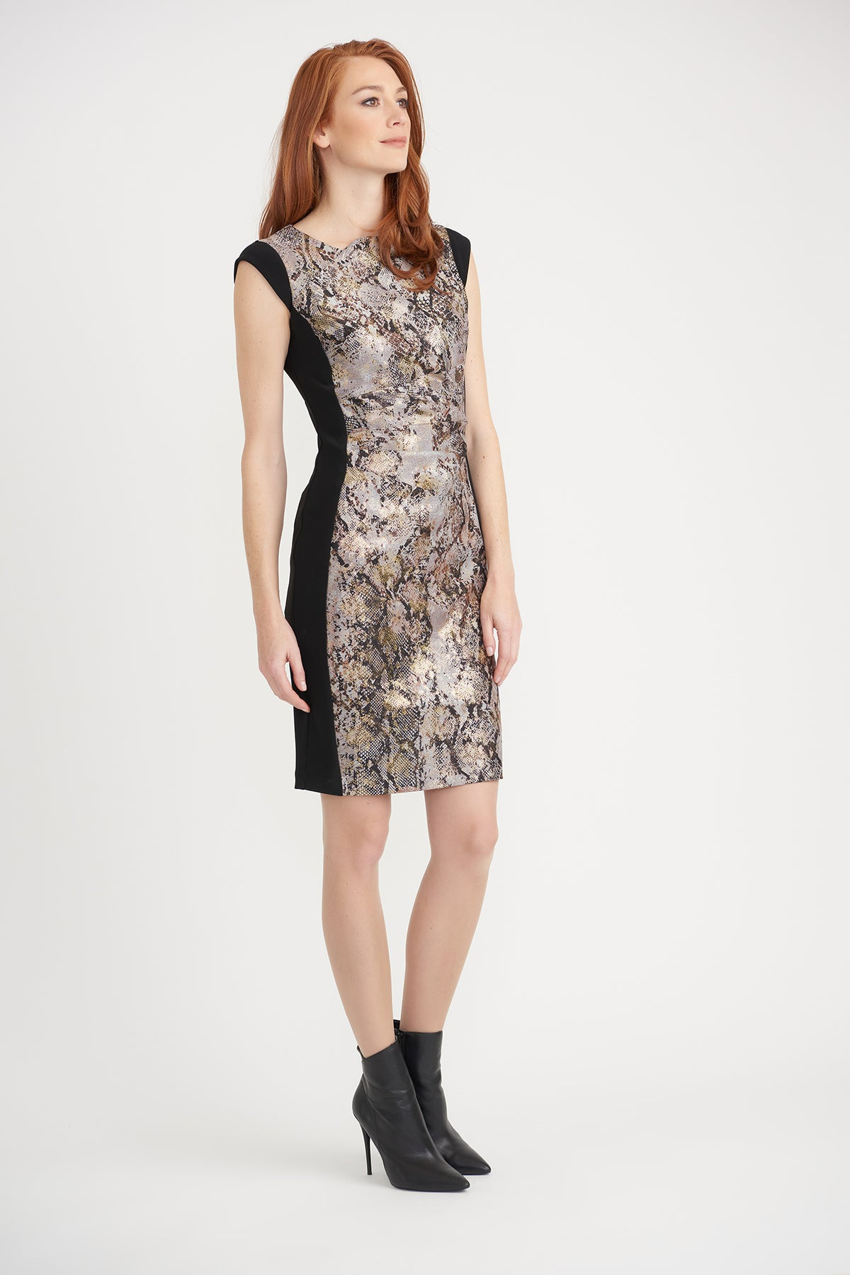 Snake Dress With Gold Foil