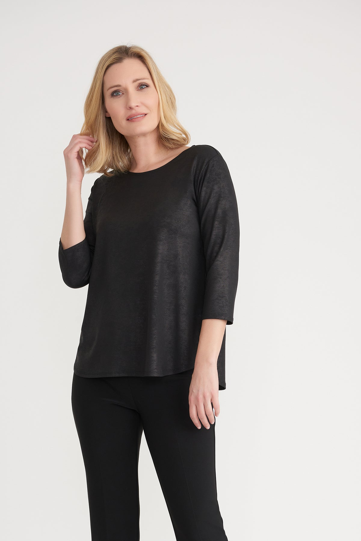 Solid Brushed Fabric Top