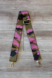 Metallic Camo Bag Strap