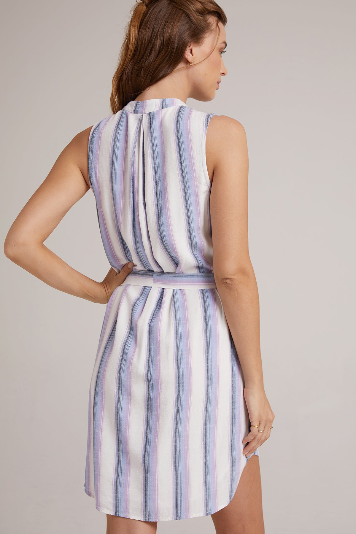 Sleeveless Pleated Front Dress