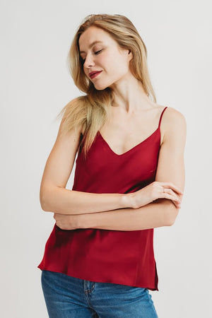 Silk Cami With Built In Bra