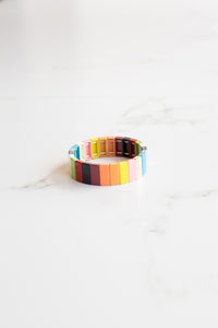 Rainbow Large Tile Bracelet