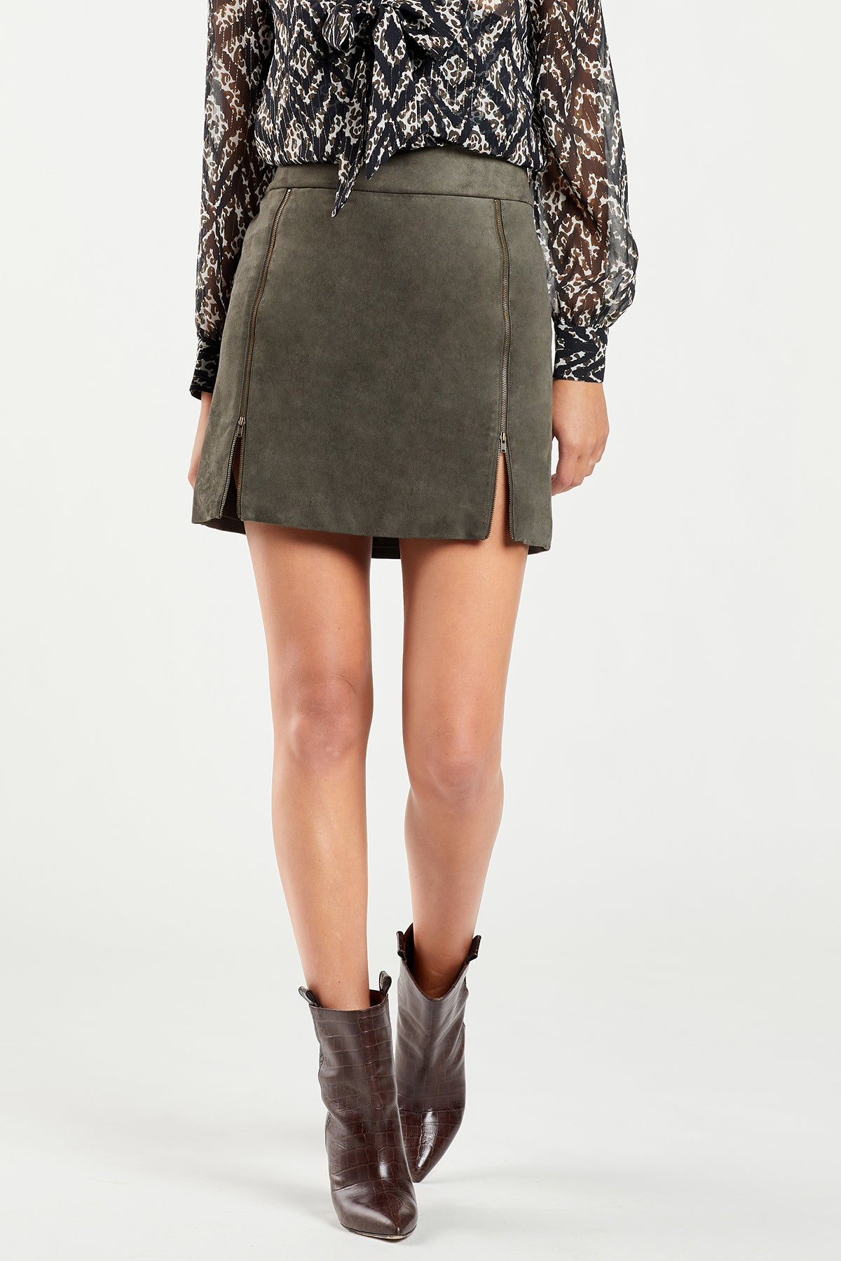 Camryn Zipper Skirt