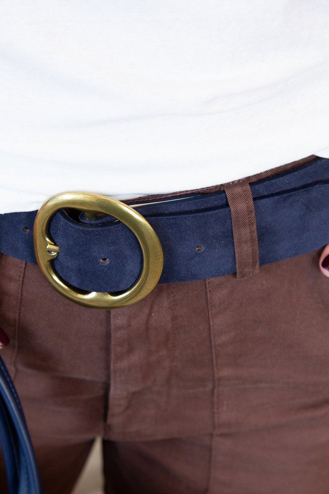 Bell Bottom Suede Belt
