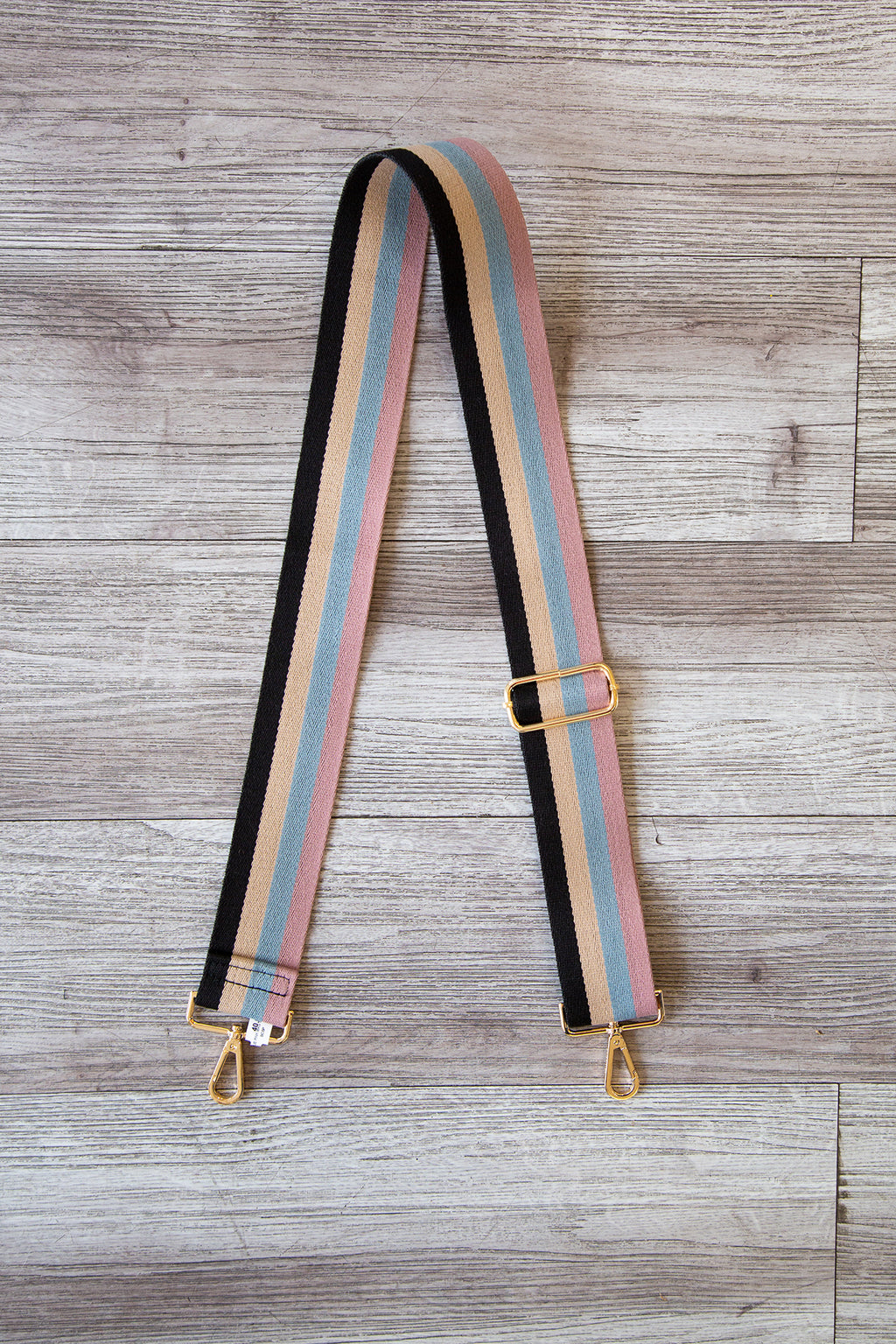 Black Cream Blue Pink Bag Strap
