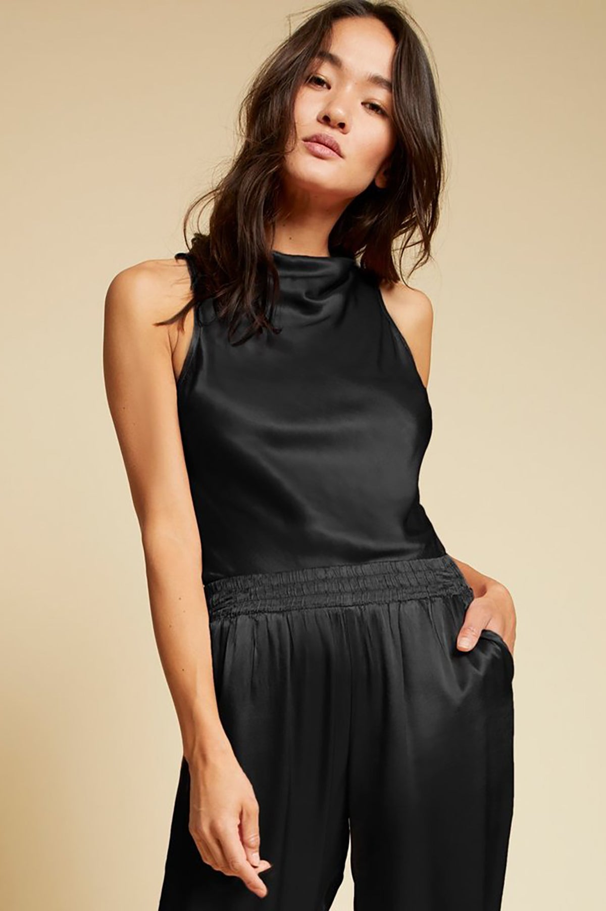 Kate Draped Neck Bias Top