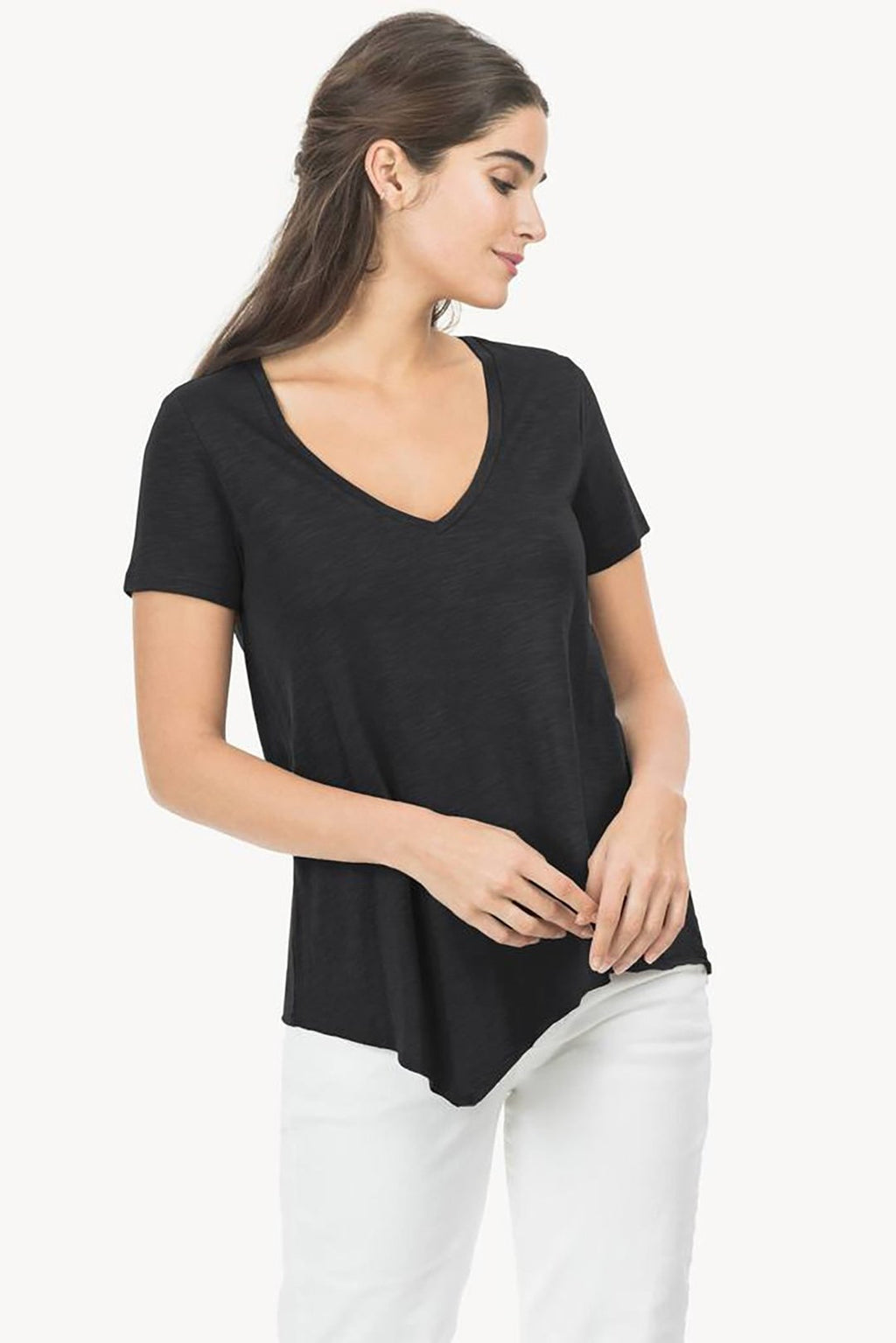 Asymmetrical V-Neck