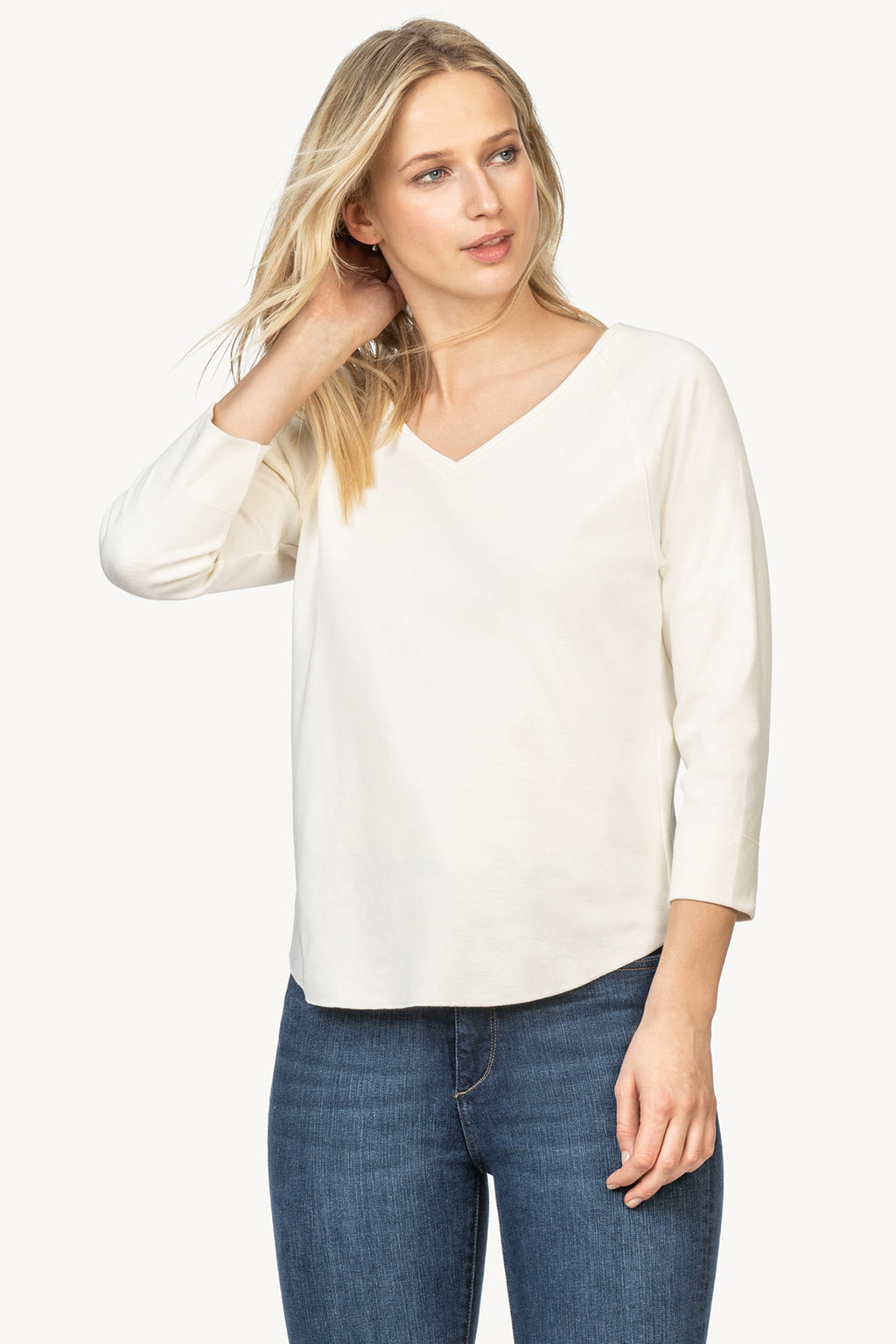 3/4 V-Neck Sleeve Top