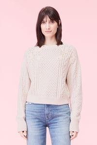 Lace Applique Pullover Sweater