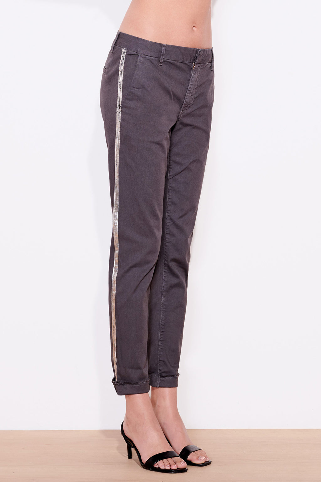 Rollup Trouser With Stripe