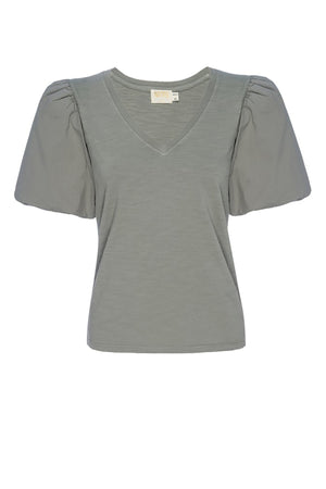 Traci Bubble Sleeve V-Neck