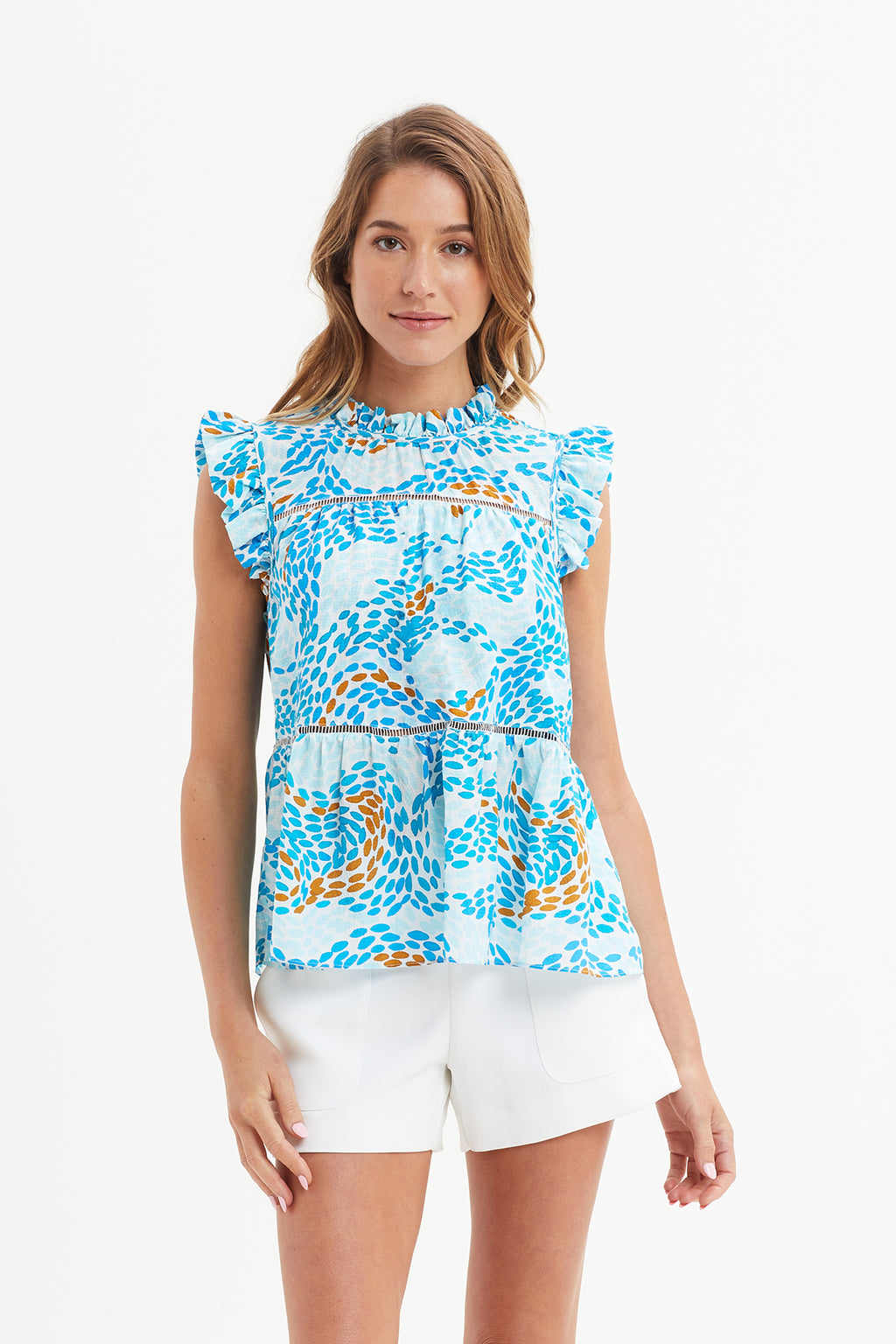 Tia Tiered Sleeveless Blouse