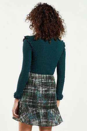 Tinley Ribbed Ruffle Turtleneck
